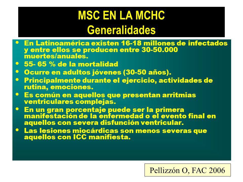 MSC EN LA MCHC Generalidades