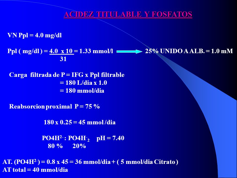 ACIDEZ TITULABLE Y FOSFATOS