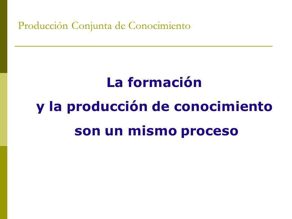Producción Conjunta de Conocimiento