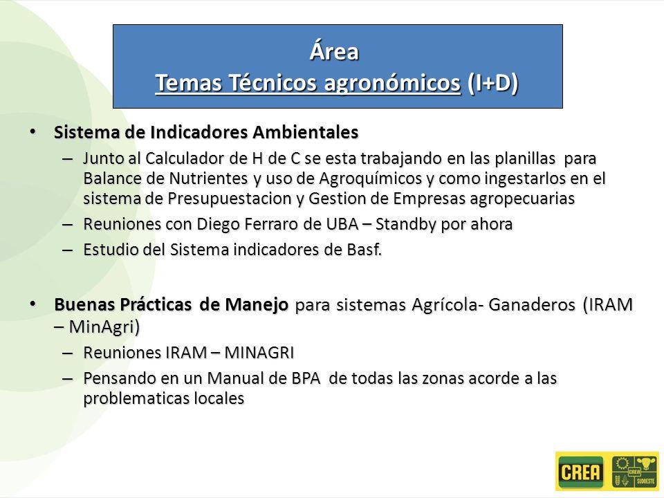 Temas Técnicos agronómicos (I+D)