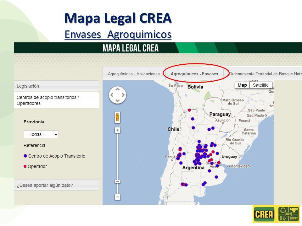 Mapa Legal CREA Envases Agroquimicos