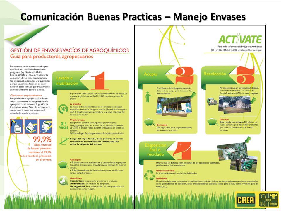 Comunicación Buenas Practicas – Manejo Envases
