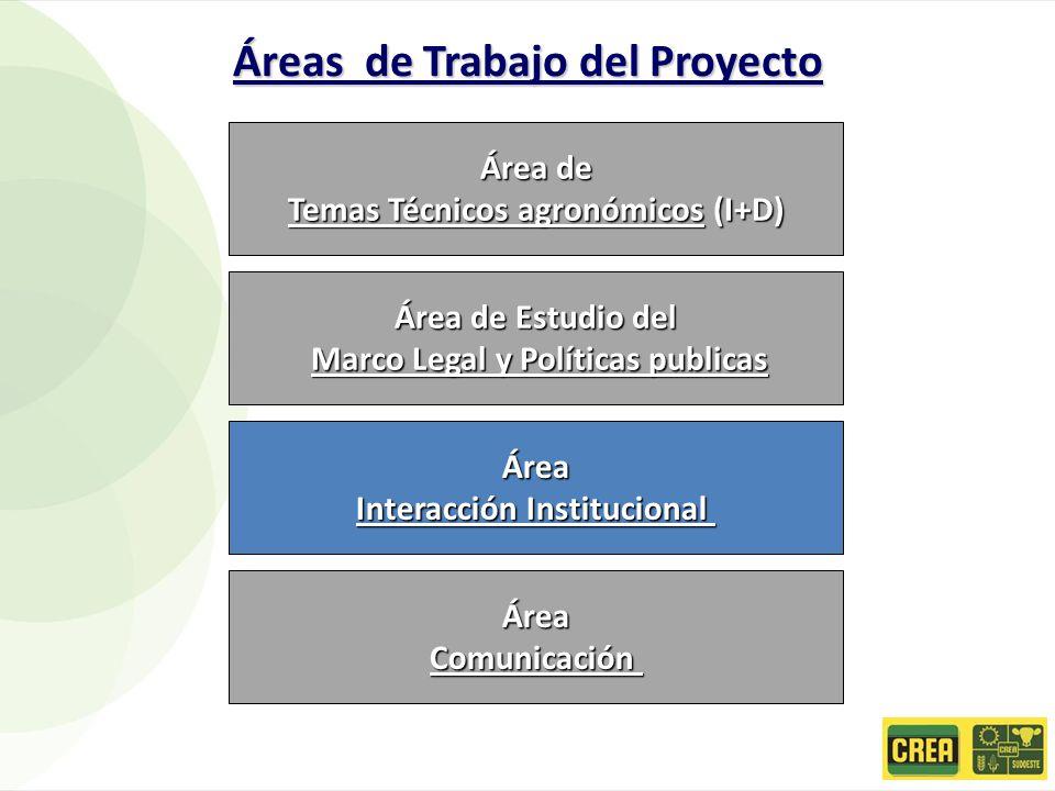 Áreas de Trabajo del Proyecto