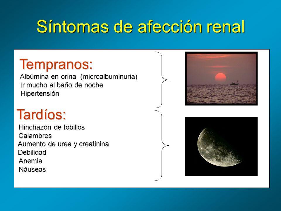 Síntomas de afección renal