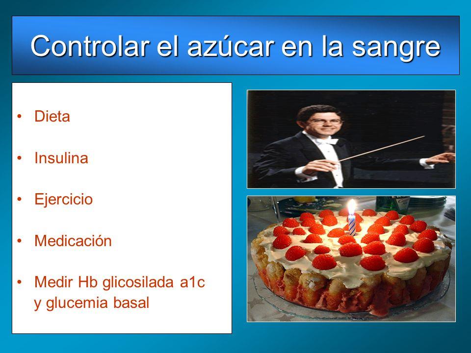 Controlar el azúcar en la sangre