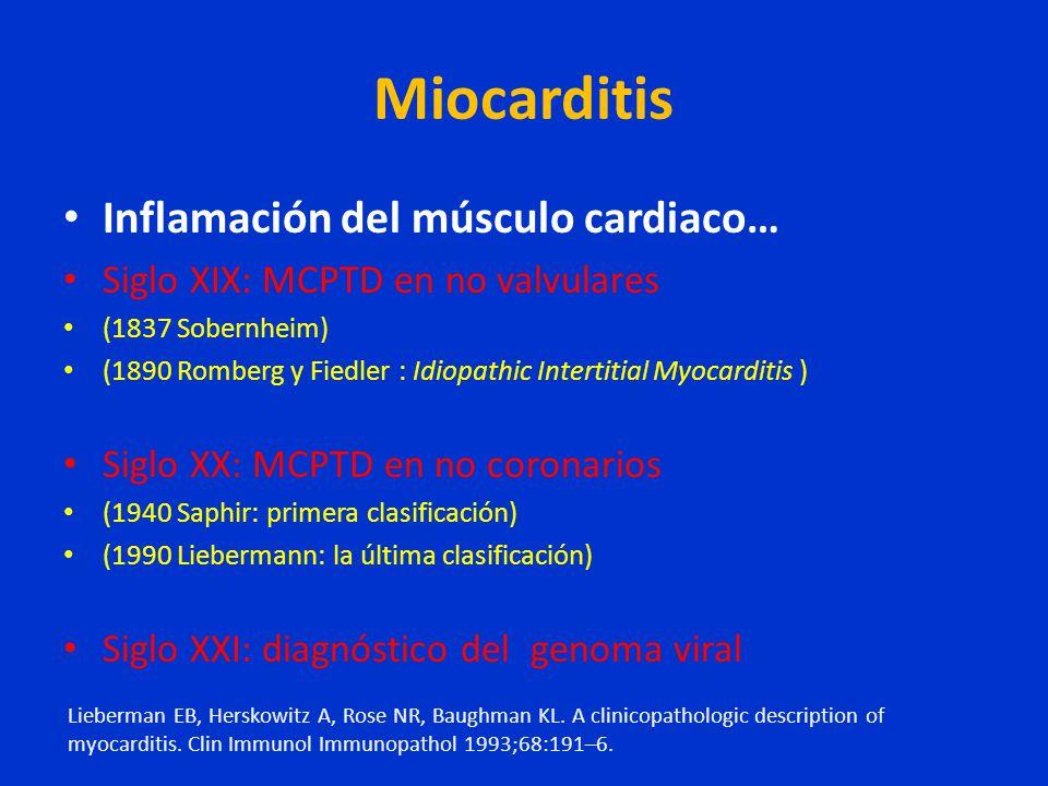 Miocarditis Inflamación del músculo cardiaco…