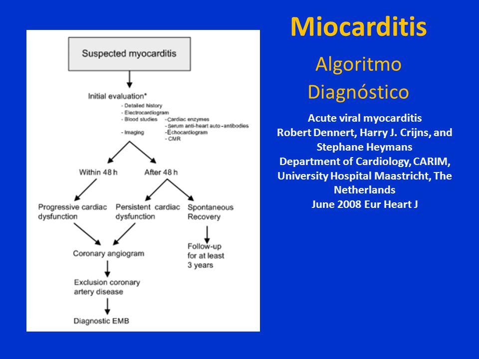 Miocarditis Algoritmo Diagnóstico