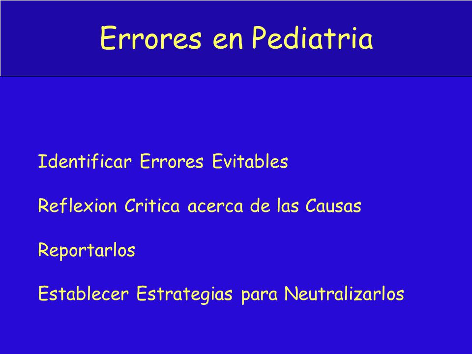 Errores en Pediatria Identificar Errores Evitables