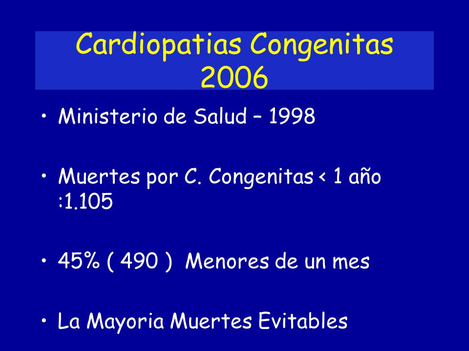 Cardiopatias Congenitas 2006