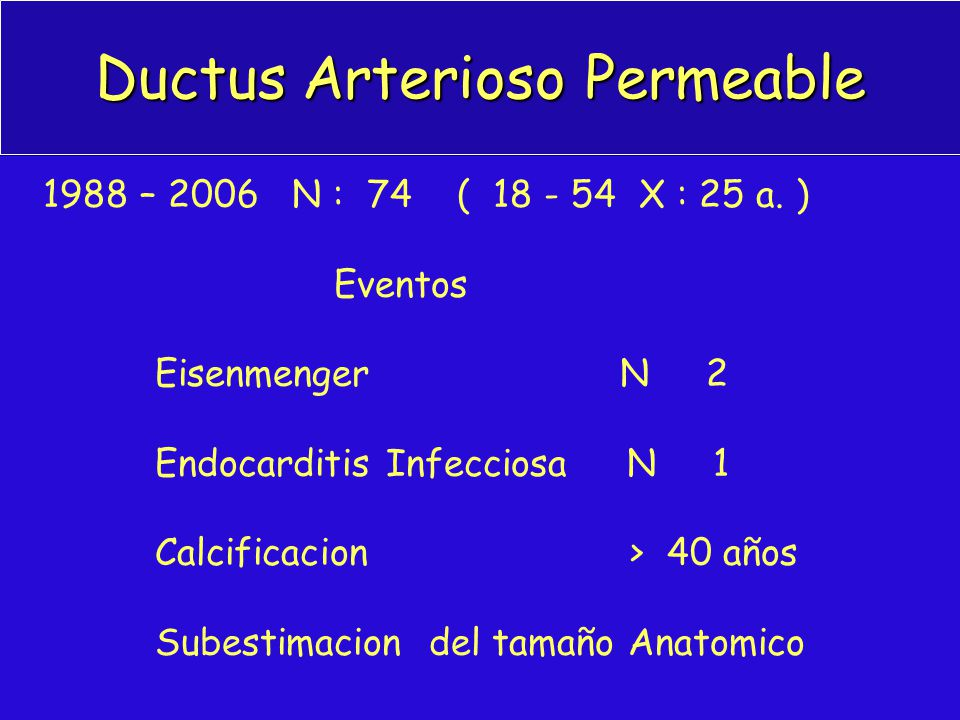 Ductus Arterioso Permeable