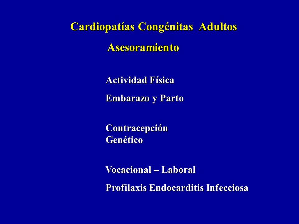 Asesoramiento Cardiopatías Congénitas Adultos Actividad Física