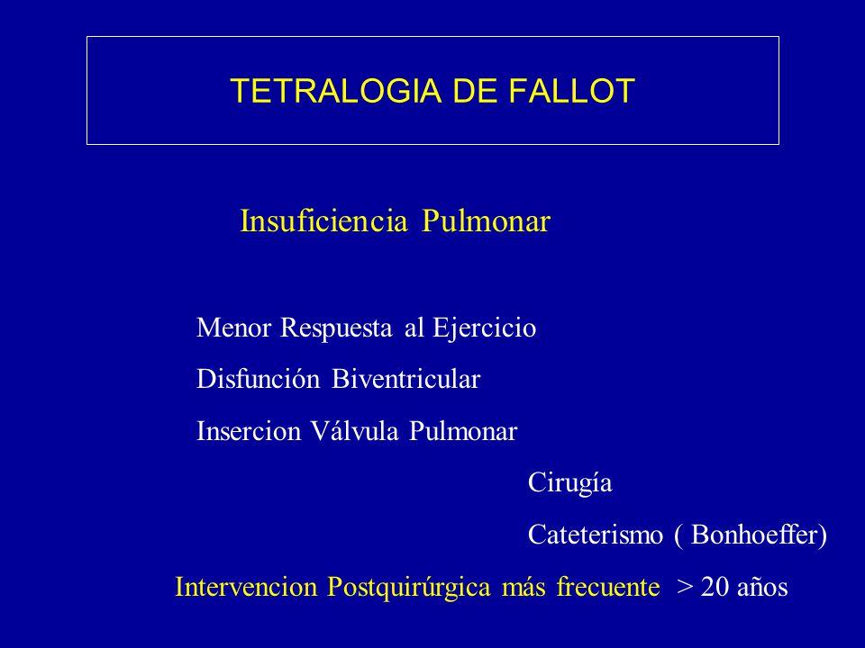 TETRALOGIA DE FALLOT Insuficiencia Pulmonar
