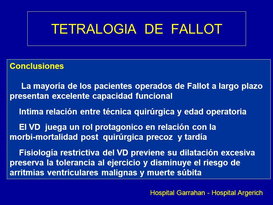 TETRALOGIA DE FALLOT Conclusiones