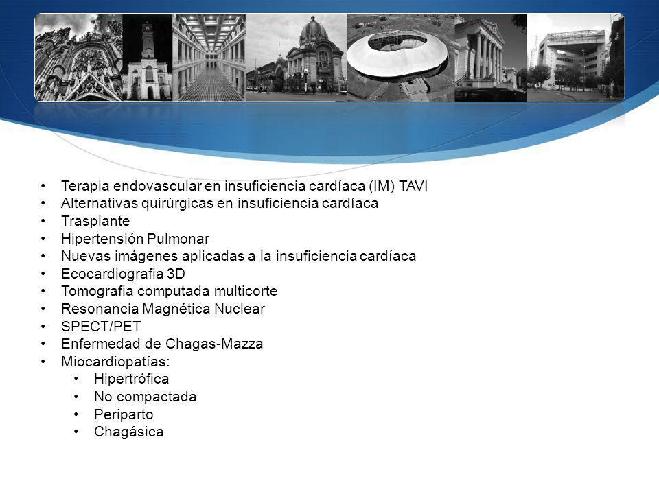 Terapia endovascular en insuficiencia cardíaca (IM) TAVI