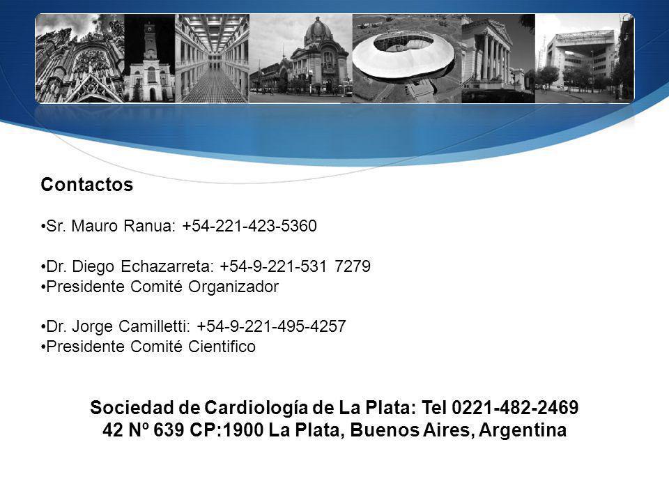 Sociedad de Cardiología de La Plata: Tel 0221-482-2469