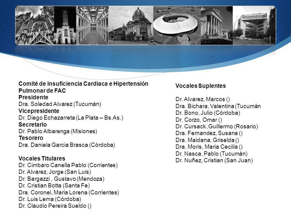 Vocales Suplentes Dr. Alvarez, Marcos () Dra. Bichara, Valentina (Tucumán. Dr. Bono, Julio (Córdoba)