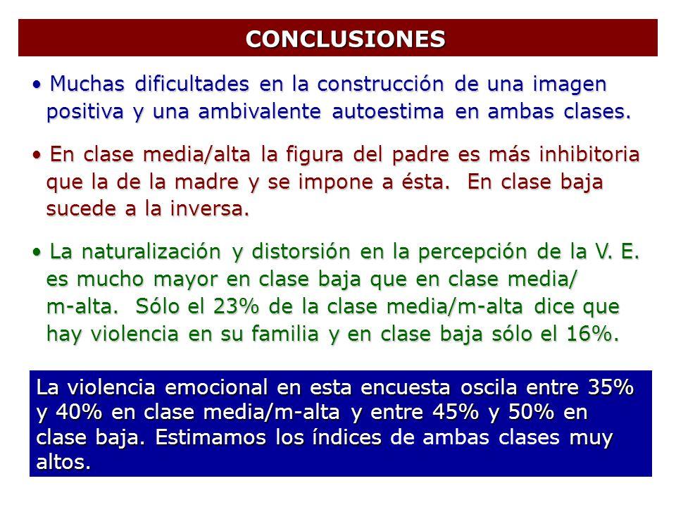 CONCLUSIONES Muchas dificultades en la construcción de una imagen