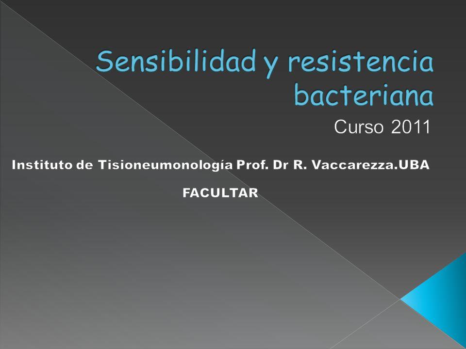 Sensibilidad y resistencia bacteriana