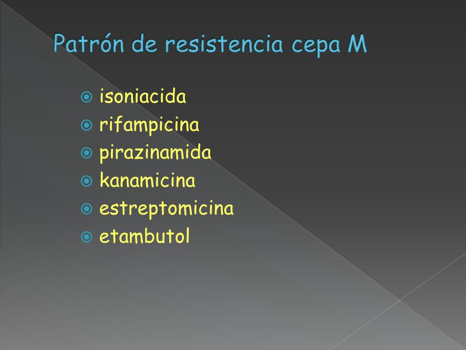 Patrón de resistencia cepa M