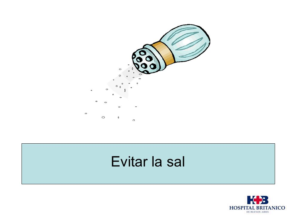 Evitar la sal