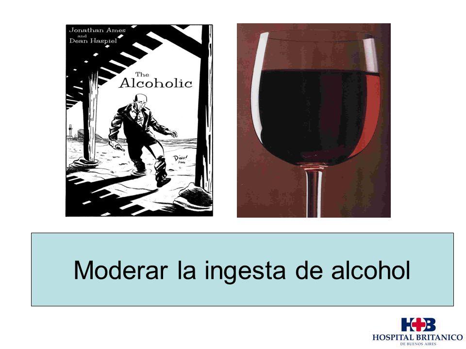 Moderar la ingesta de alcohol