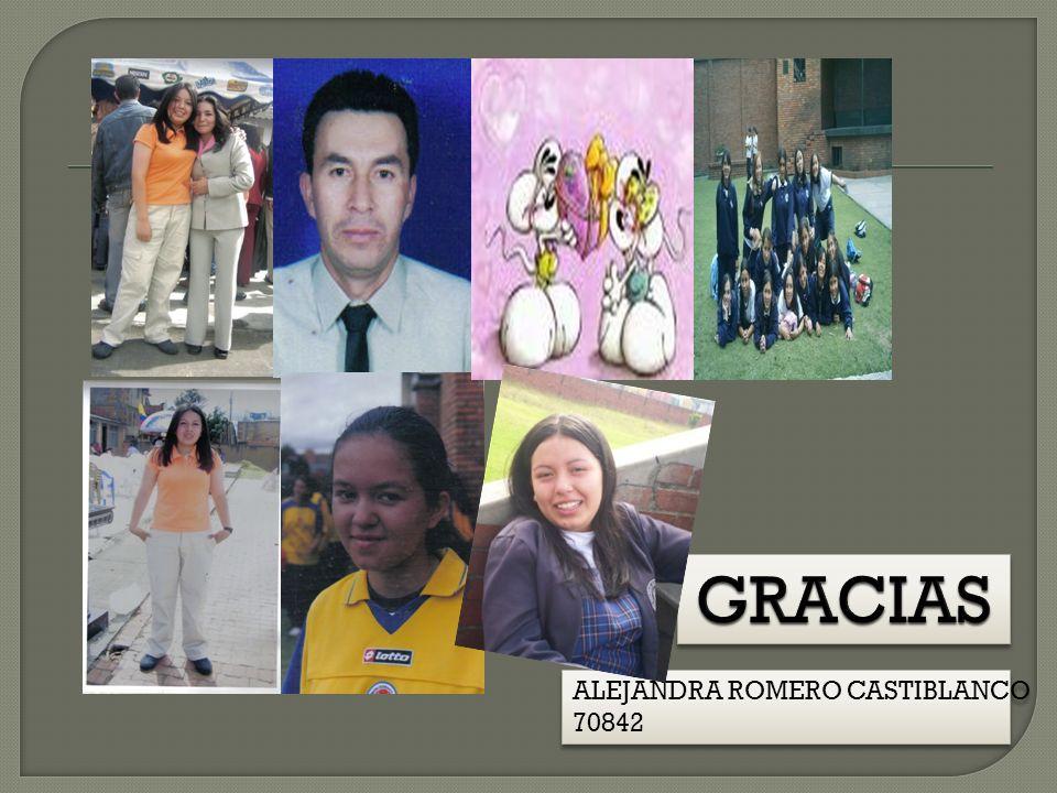 GRACIAS ALEJANDRA ROMERO CASTIBLANCO 70842