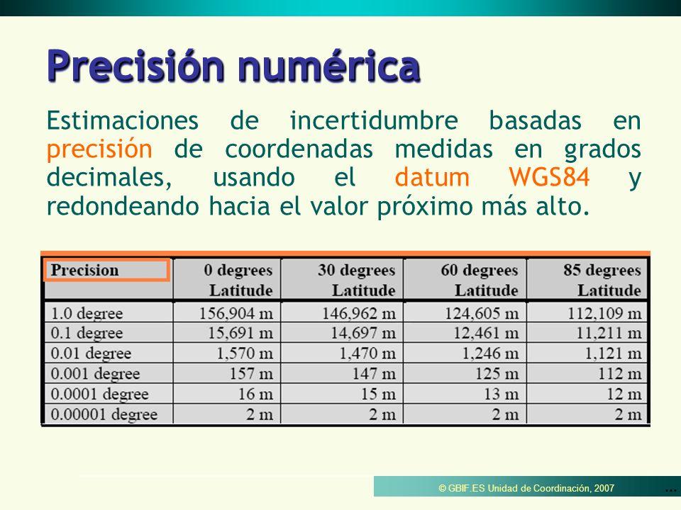 Precisión numérica