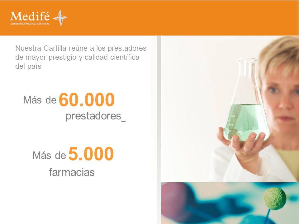 60.000 5.000 prestadores farmacias Más de Más de