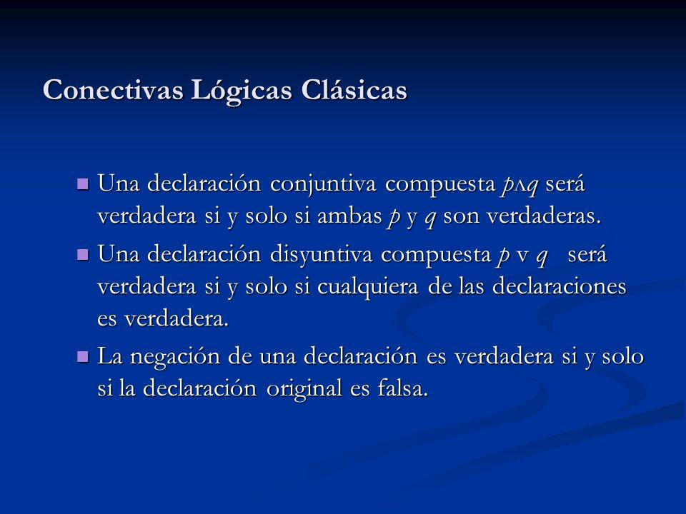 Conectivas Lógicas Clásicas