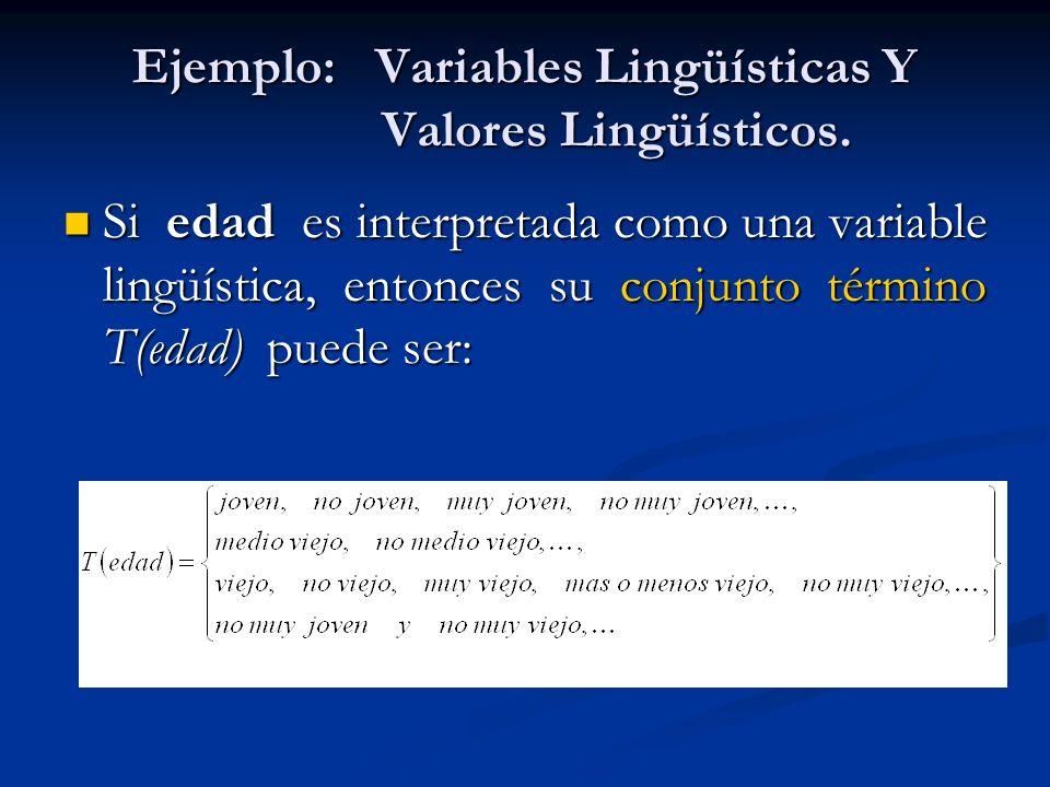 Ejemplo: Variables Lingüísticas Y Valores Lingüísticos.