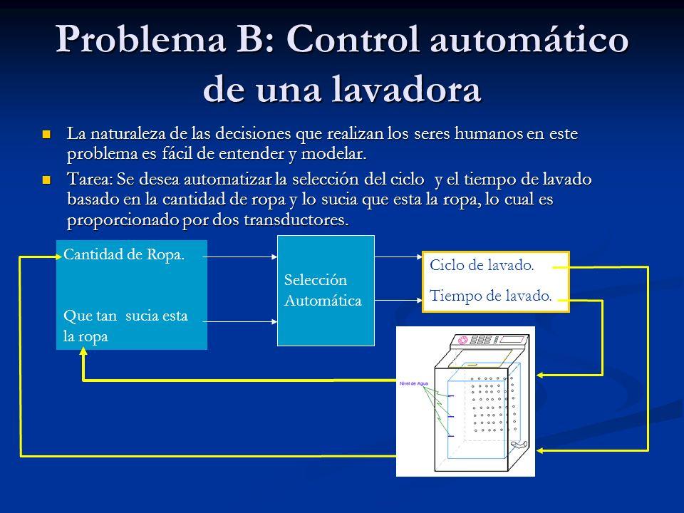 Problema B: Control automático de una lavadora