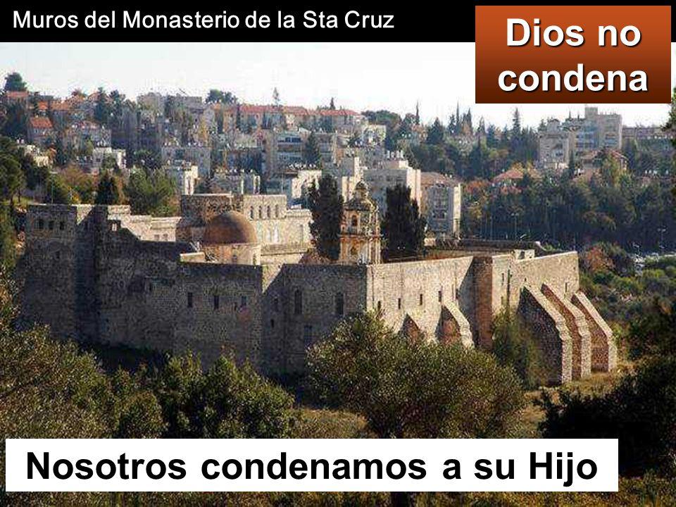 Muros del Monasterio de la Sta Cruz Nosotros condenamos a su Hijo