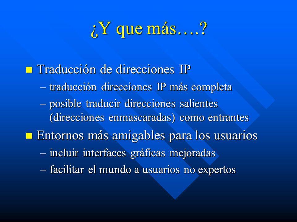 ¿Y que más…. Traducción de direcciones IP