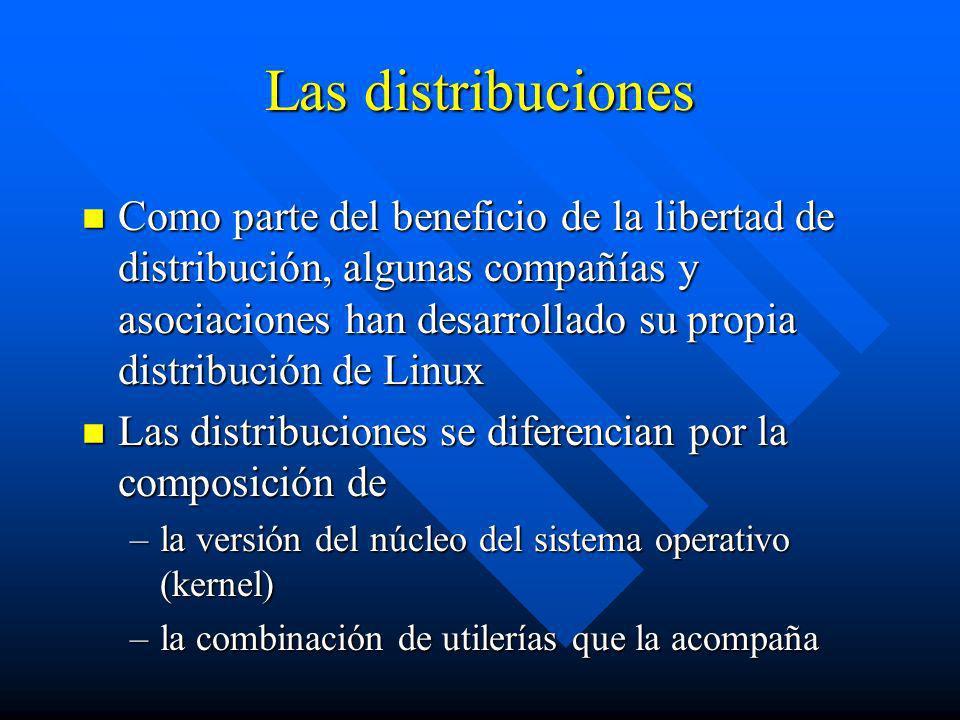 Las distribuciones