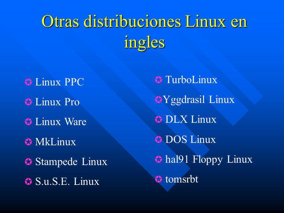 Otras distribuciones Linux en ingles