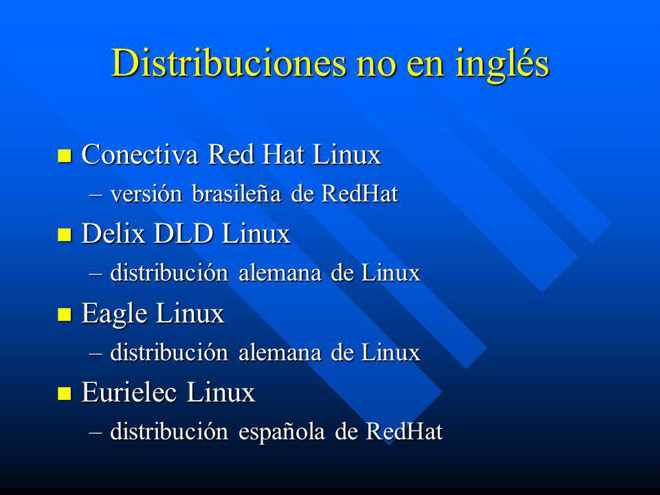 Distribuciones no en inglés