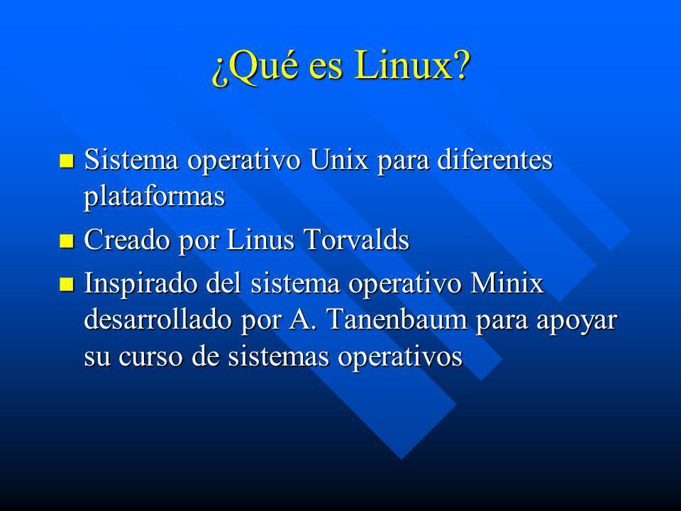 ¿Qué es Linux Sistema operativo Unix para diferentes plataformas