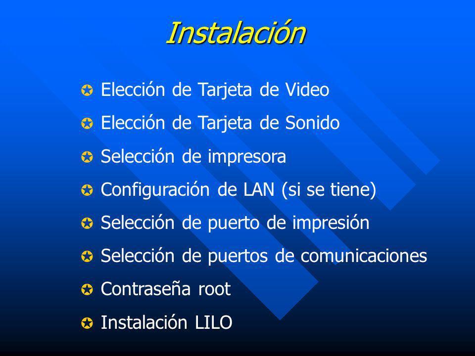 Instalación Elección de Tarjeta de Video Elección de Tarjeta de Sonido