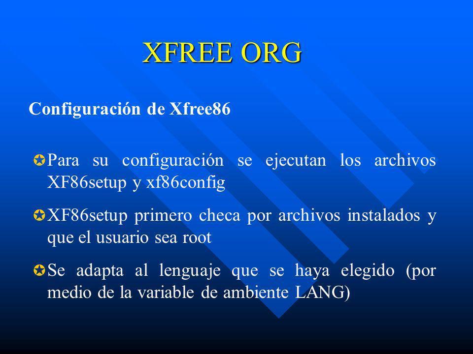XFREE ORG Configuración de Xfree86