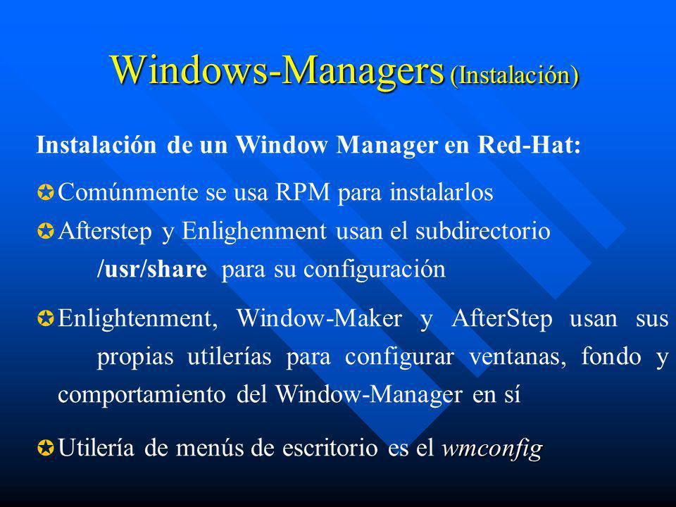 Windows-Managers (Instalación)