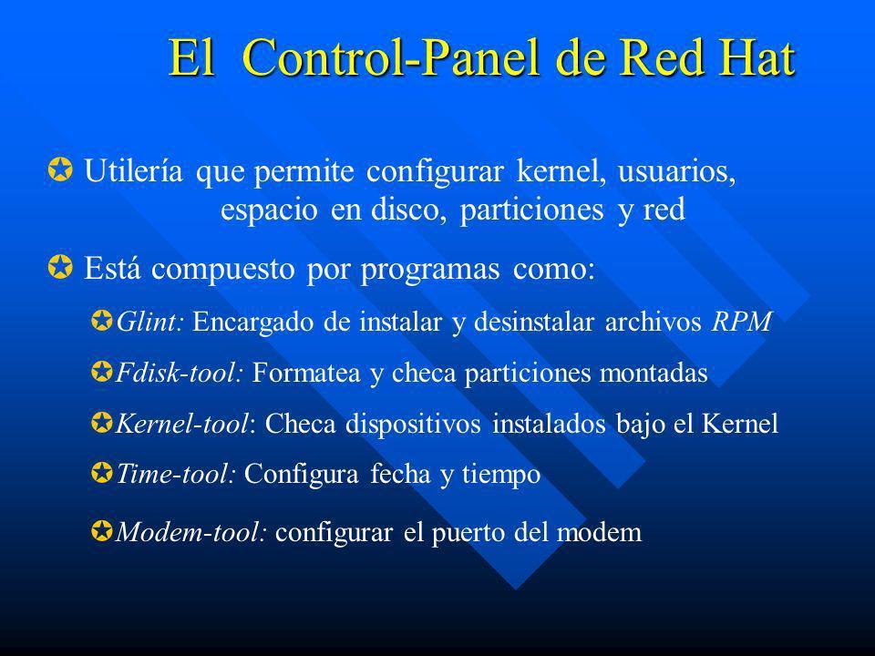 El Control-Panel de Red Hat