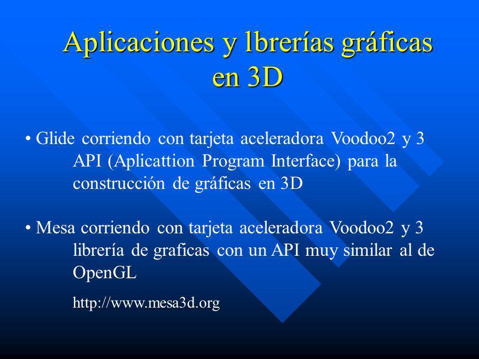 Aplicaciones y l brerías gráficas en 3D