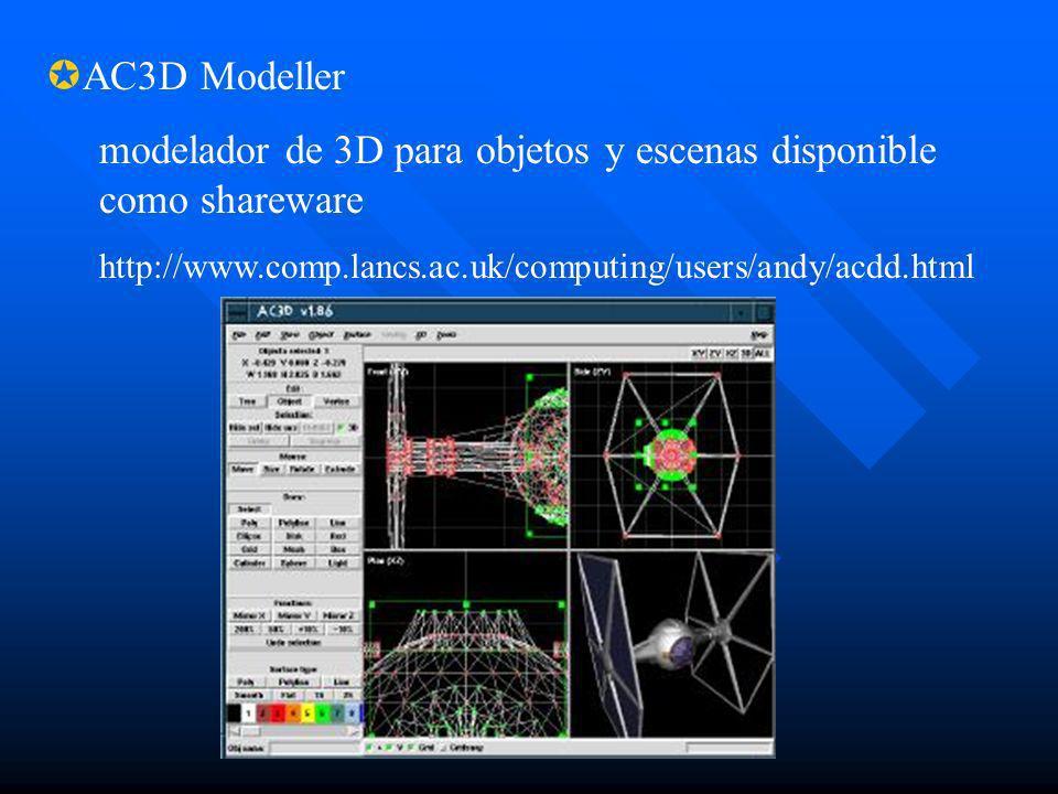 modelador de 3D para objetos y escenas disponible como shareware