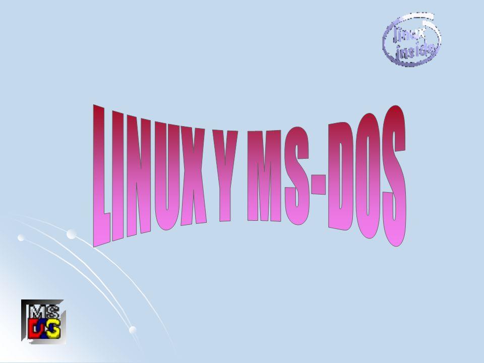 LINUX Y MS-DOS