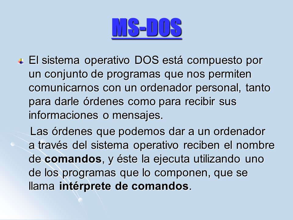 MS-DOS
