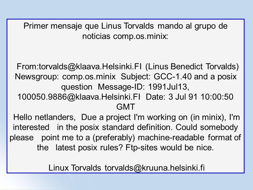Linux Torvalds torvalds@kruuna.helsinki.fi
