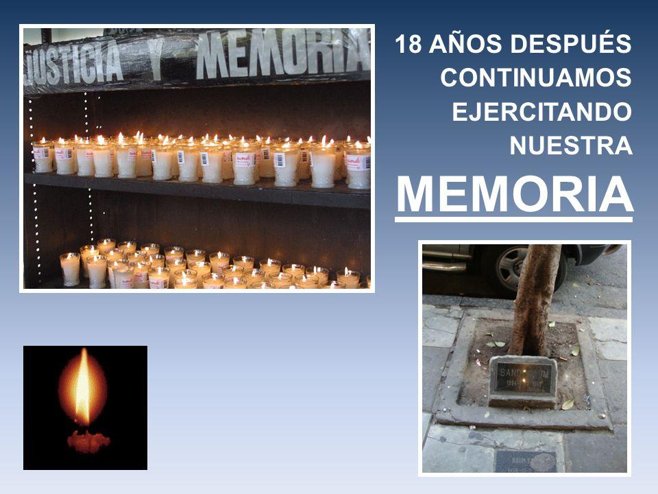 18 AÑOS DESPUÉS CONTINUAMOS EJERCITANDO NUESTRA MEMORIA