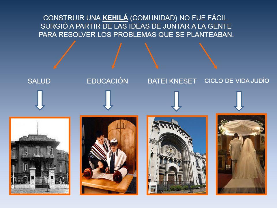 CONSTRUIR UNA KEHILÁ (COMUNIDAD) NO FUE FÁCIL.