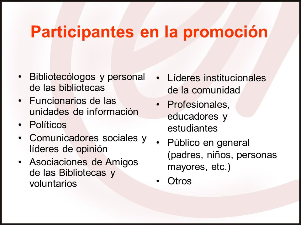 Participantes en la promoción