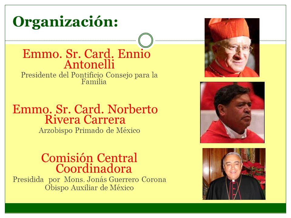 Organización: Emmo. Sr. Card. Ennio Antonelli